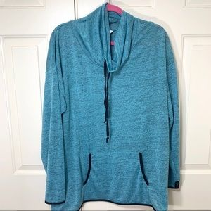 INDIGO COWL NECK 2X PULL OVER